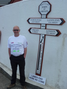 13th May 2013, about to start day 1 of the big walk