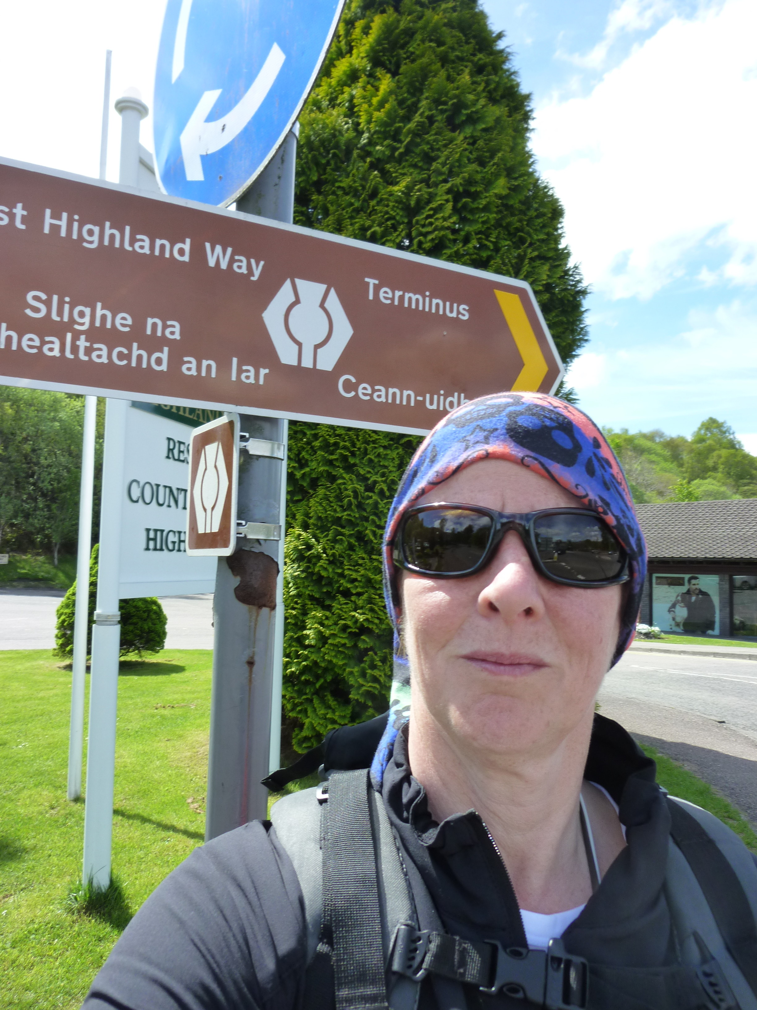 The beginning of the West Highland Way