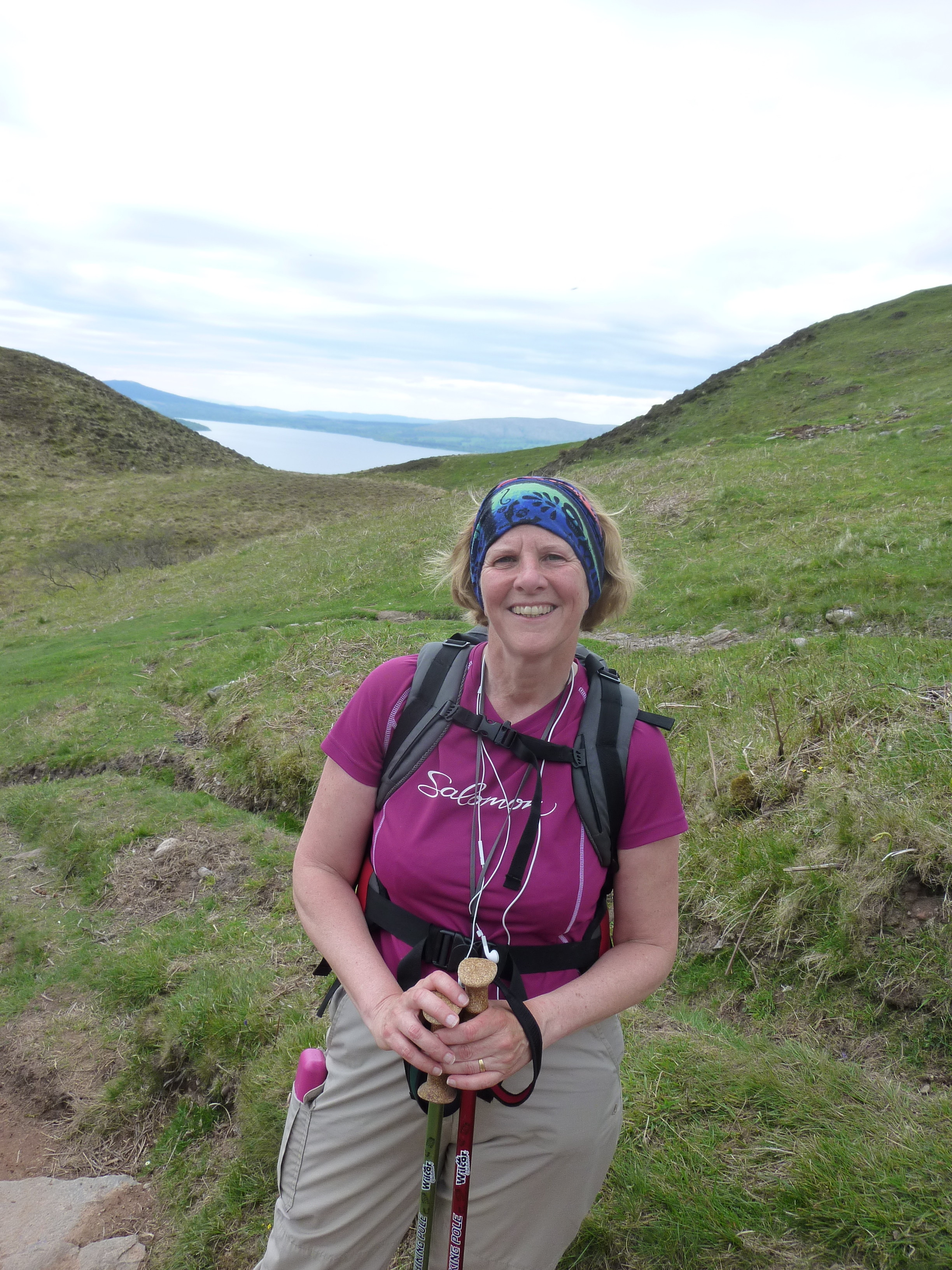Me with Loch Lomond in the background just part way up this amazing hill
