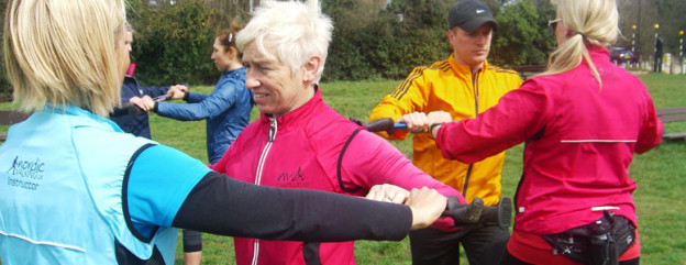 Ridgeway Nordic Walking. The group I am training to be an instructor with.